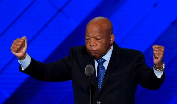 PHOTO: Rep. John Lewis speaks at the Democratic National Convention at the Wells Fargo Center in Philadelphia, July 26, 2016. (Saul Loeb/AFP via Getty Images)