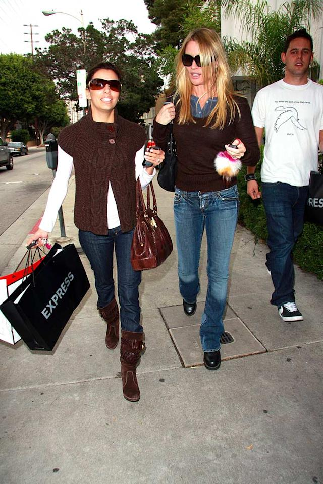 """""""Desperate Housewives"""" co-stars Eva Longoria and Nicollette Sheridan took a break to go shopping in Los Angeles. AlphaX/<a href=""""http://www.x17online.com"""" target=""""new"""">X17 Online</a> - November 8, 2007"""