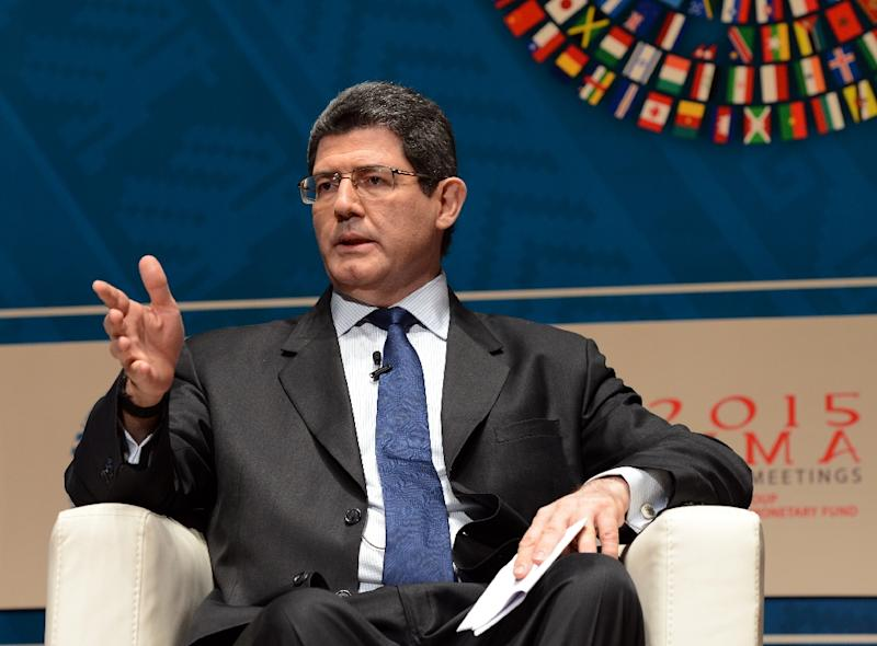 Brazilian Minister of Finance Joaquim Levy, pictured on October 8, 2015, is under pressure over the nation's recession, mounting inflation and unemployment and the government's inability to pass new austerity measures in a hostile Congress