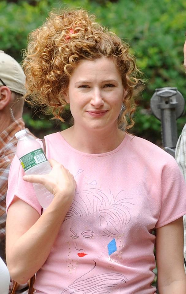 """Kathryn Hahn filming on location for """"The Secret Life of Walter Mitty"""" on June 19, 2012 in the Bronx borough of New York City."""