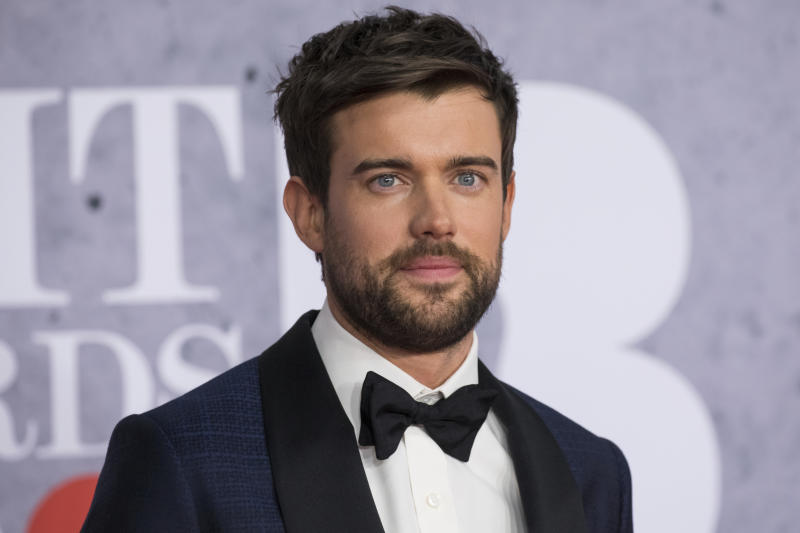 Jack Whitehall poses for photographers upon arrival at the Brit Awards in London, Wednesday, Feb. 20, 2019. (Photo by Vianney Le Caer/Invision/AP)
