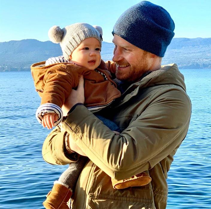 """<p>Dad and lad looked cozy in Canada as seen in <a href=""""https://www.instagram.com/p/B6v_KOtJinF/?utm_source=ig_embed&ig_rid=fd57df75-140c-499a-83f5-b9e454e9e55d"""" rel=""""nofollow noopener"""" target=""""_blank"""" data-ylk=""""slk:a special Instagram video"""" class=""""link rapid-noclick-resp"""">a special Instagram video</a> Harry and Meghan released on New Year's Eve in 2019.</p>"""