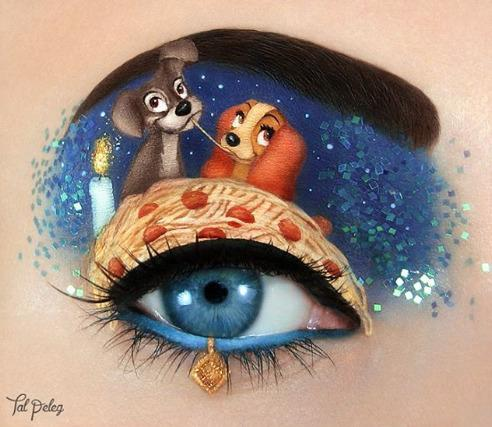 <p>Who wouldn't love the cutest scene in film history on their eyelid?<i> [Photo: Tal Peleg/ Instagram]</i><br /></p>