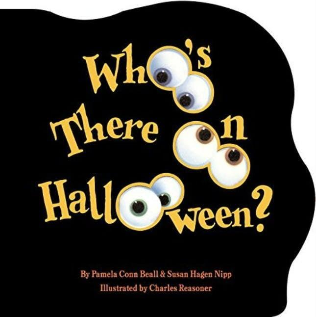"""<p>Here's a board book that takes tots on a <a class=""""link rapid-noclick-resp"""" href=""""https://www.popsugar.com/Halloween"""" rel=""""nofollow noopener"""" target=""""_blank"""" data-ylk=""""slk:Halloween"""">Halloween</a> adventure by lifting the flaps to see who's hidden inside. <span><strong>Who's There on Halloween?</strong></span> ($6) is a charming book that's definitely not too spooky for kids of all ages.</p>"""