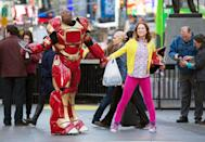 <ul> <li><strong>What to wear for Kimmy:</strong> Pink jeans, a floral top, and bright yellow sweater.</li> <li><strong>What to wear for Titus:</strong> A cheap Iron Man costume.</li> </ul>