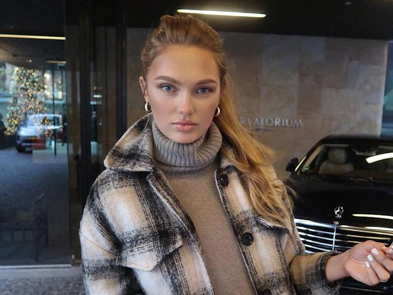 Romee Strijd shoots down pregnancy speculation