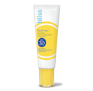 """Bliss's Block Star Invisible Daily Sunscreen SPF 30 has a <a href=""""https://www.allure.com/gallery/best-tinted-sunscreen-for-face?mbid=synd_yahoo_rss"""" rel=""""nofollow noopener"""" target=""""_blank"""" data-ylk=""""slk:tinted formula"""" class=""""link rapid-noclick-resp"""">tinted formula</a>, which means you won't experience any white cast commonly associated with pasty SPFs. It rubs in like a dream and instantly dries down to an invisible, velvety finish — because no one has time to deal with greasy residue. Aside from the main UV-blocking agents, zinc oxide and titanium dioxide, you'll find antioxidant-rich fruits (i.e.. blueberry and açai) and green tea for protection against free radicals, as well as rosa canina fruit oil to <a href=""""https://www.allure.com/gallery/how-to-get-rid-of-oily-skin?mbid=synd_yahoo_rss"""" rel=""""nofollow noopener"""" target=""""_blank"""" data-ylk=""""slk:control excess oil"""" class=""""link rapid-noclick-resp"""">control excess oil</a>."""