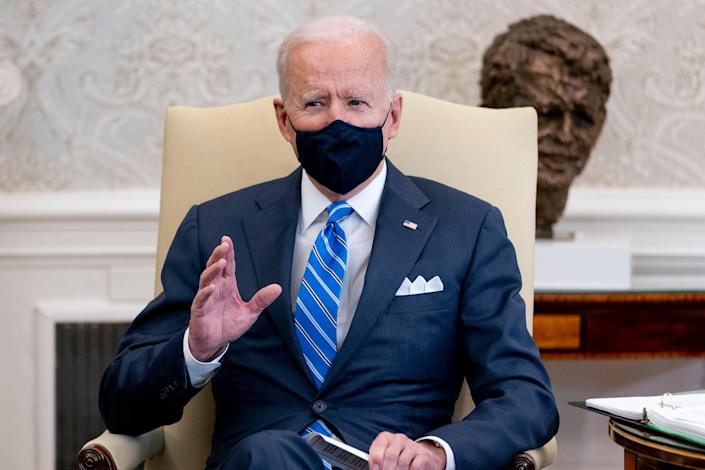 <p>A majority of Americans have said they approve of Joe Biden's response to the coronavirus pandemic</p> (AP)
