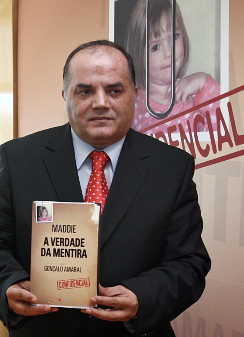 Goncalo Amaral with his controversial 2008 book. Source: AFP
