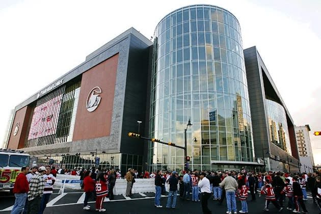 The Prudential Center, the home of the Devils and, for now, East Side High — Getty Images