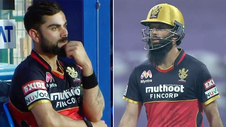 Pictured here, Bangalore captain Virat Kohli and allrounder Moeen Ali.