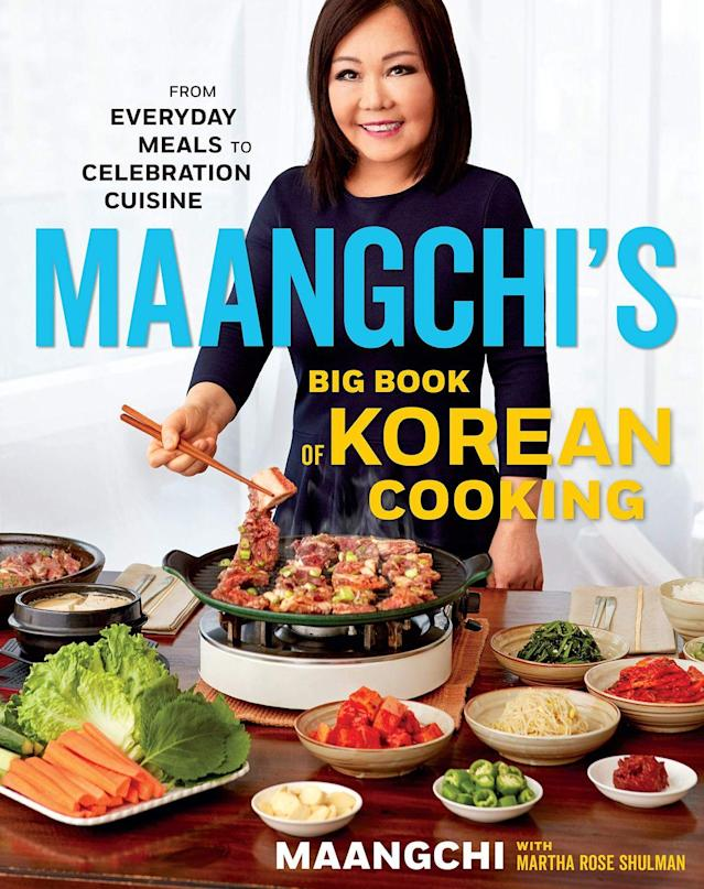"""<p>Never been able to find a good Korean cookbook? Well you're in luck. Maangchi has created a cookbook that explores every inch of Korean cooking packed full of recipes she has perfected herself! From trusty everyday meals to tasty celebration cuisines, this book has it all.<br></p><p><a class=""""link rapid-noclick-resp"""" href=""""https://www.amazon.co.uk/Maangchis-Big-Book-Korean-Cooking/dp/1328988120/ref=sr_1_2?crid=8CEBKY8M1ZHV&keywords=maangchi%27s+real+korean+cooking&qid=1567345182&s=gateway&sprefix=MAAN%2Caps%2C147&sr=8-2&tag=hearstuk-yahoo-21&ascsubtag=%5Bartid%7C2159.g.28871146%5Bsrc%7Cyahoo-uk"""" rel=""""nofollow noopener"""" target=""""_blank"""" data-ylk=""""slk:BUY NOW"""">BUY NOW</a> <strong>Maangchi's Big Book of Korean Cooking, amazon.co.uk</strong></p>"""