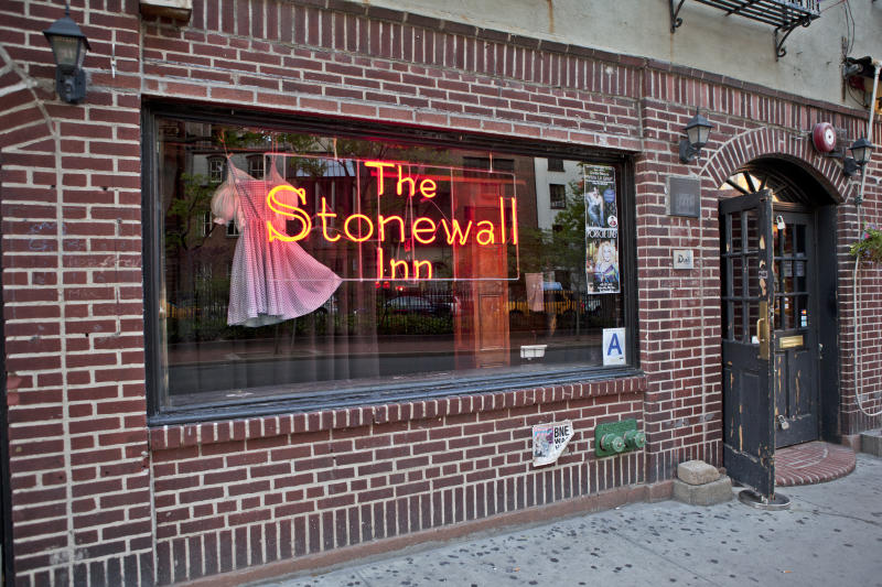 New York, USA - May 7, 2011: Facade of the Stonewall Inn at 53 Christopher Street in NYC.