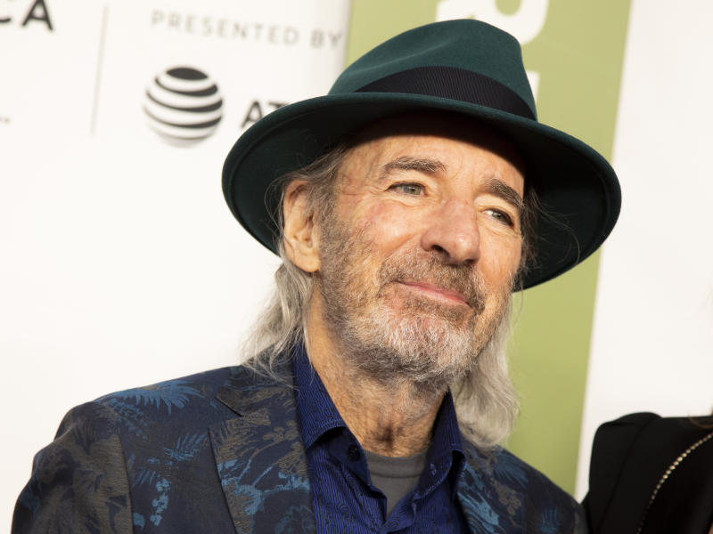 "Harry Shearer attends the 35th anniversary screening for ""This is Spinal Tap"" during the 2019 Tribeca Film Festival at the Beacon Theatre on Saturday, April 27, 2019, in New York. (Photo by Andy Kropa/Invision/AP)"