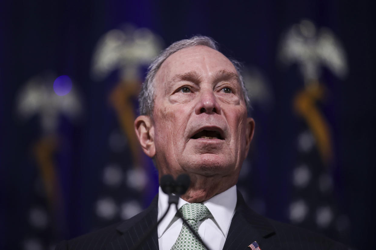 Newly announced Democratic presidential candidate, former New York Mayor Michael Bloomberg speaks during a press conference to discuss his presidential run on November 25, 2019 in Norfolk, Virginia. (Photo: Drew Angerer/Getty Images)