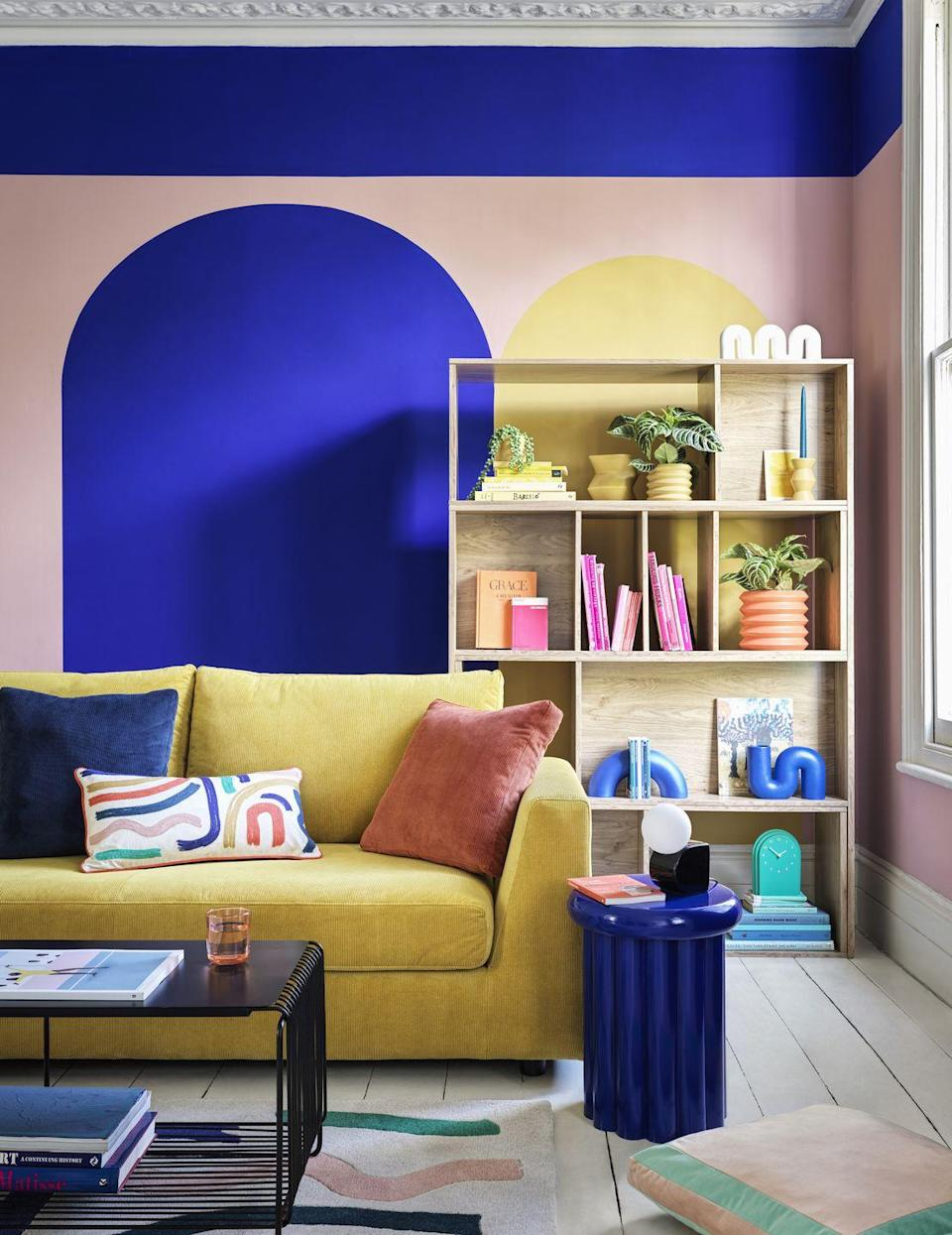 """<p>Influenced by architectural forms, the Studio trend is packed with an energising block colour palette and utilitarian feel. Modern and practical, shoppers can pick up clever storage solutions, large planters, book shelves, table lamps and bright clocks, too. </p><p>'Colour plays such an important part in our homes as it allows us to create not only style but increase our mood, our emotions and our feelings,' explains Andrew Tanner, Design Manager.</p><p>'After spending more time indoors than ever before we have turned<br>to using uplifting palettes, bold and vibrant hues that evoke the senses.'</p><p><strong>Follow House Beautiful on <a href=""""https://www.instagram.com/housebeautifuluk/"""" rel=""""nofollow noopener"""" target=""""_blank"""" data-ylk=""""slk:Instagram"""" class=""""link rapid-noclick-resp"""">Instagram</a>.</strong></p>"""