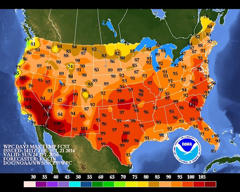the Heat Dome Will Scorch Nearly the Entire US This Weekend