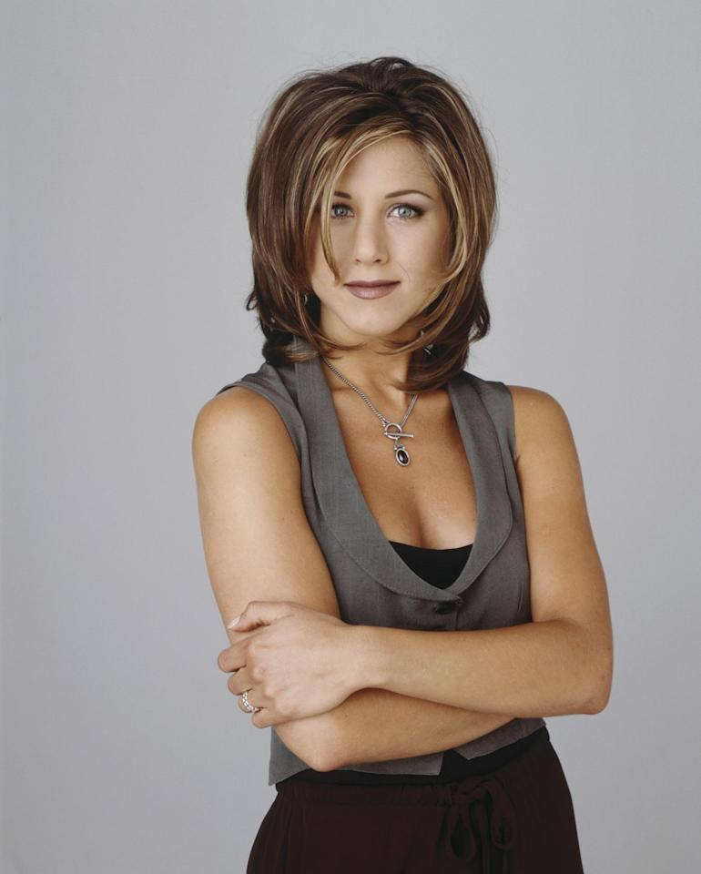 "<p>Jennifer Aniston is maybe best known for her '90s style during the <em>Friends</em> era. The Rachel was a razored layered cut from 1994 created by hair guru Chris McMillian <a href=""https://www.totalbeauty.com/content/blog/the-rachel-haircut-jennifer-aniston-tbk-170420"" target=""_blank"">by accident</a>. Aniston was never a big fan herself, but that didn't stop fans from obsessing over it back in the day.</p>"
