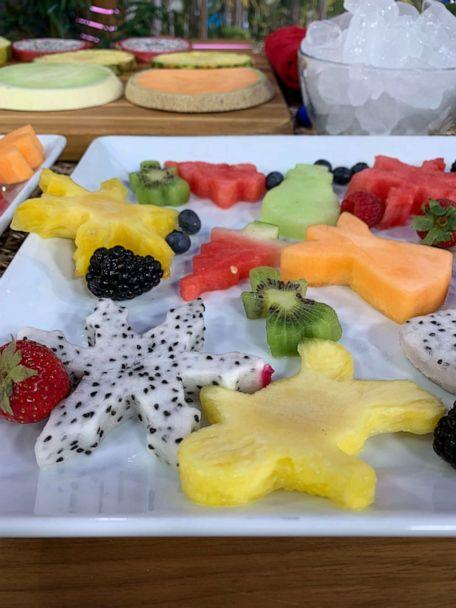 PHOTO: Summer fruit cut out with Christmas cookie cutters. (ABC News)