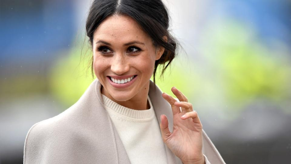 Meghan Markle's Club Monaco Reissue Trench is on sale for Cyber Monday for 40% off. (Image via Getty Images)