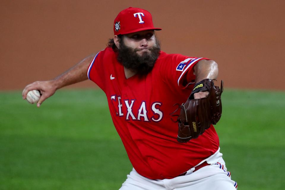 Should the Rangers try to get Lance Lynn from the division-rival Rangers? (Photo by Tom Pennington/Getty Images)
