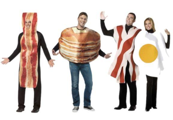"The tastiest group costume ever. Shop <a href=""https://www.walmart.com/ip/Bacon-and-Eggs-Couples-Adult-Halloween-Costume/16890154"" target=""_blank"">bacon and eggs couples costumes</a> here, <a href=""https://www.walmart.com/ip/Adult-Stacked-Pancakes-Costume-Rasta-Imposta-6807/38677933?wmlspartner=wlpa&selectedSellerId=2398&adid=22222222227026712199&wl0=&wl1=g&wl2=c&wl3=55359453129&wl4=pla-87865450329&wl5=1022762&wl6=&wl7=&wl8=&wl9=pla&wl10=113134950&wl11=online&wl12=38677933&wl13=&veh=sem"" target=""_blank"">pancakes costumes</a> here, and <a href=""https://www.walmart.com/ip/Bacon-Strip-Adult-Halloween-Costume/37408539?action=product_interest&action_type=title&beacon_version=1.0.2&bucket_id=irsbucketdefault&client_guid=d160efe2-6069-4508-8d65-3a891929624a&config_id=105&customer_id_enc&findingMethod=p13n&guid=d160efe2-6069-4508-8d65-3a891929624a&item_id=37408539&parent_anchor_item_id=30216313&parent_item_id=30216313&placement_id=irs-105-t1&reporter=recommendations&source=new_site&strategy=PWVAV&visitor_id=b_QcxGcBB4jE1QbO-0pDq4"" target=""_blank"">bacon strip costumes here</a>."