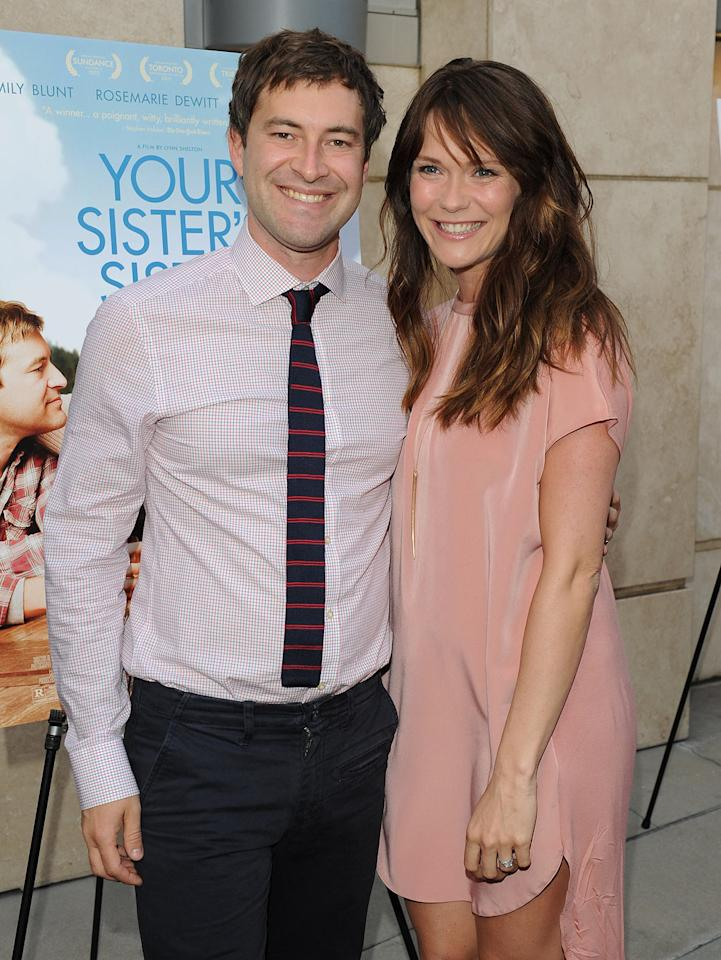 Mark Duplass and Katie Aselton arrive at the Los Angeles premiere of  'Your Sister's Sister' at ArcLight Cinemas on June 11, 2012 in  Hollywood, California.