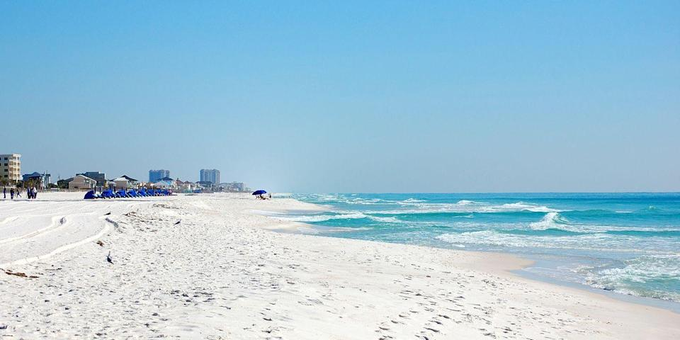"""<p>Choosing the <a href=""""https://www.bestproducts.com/fun-things-to-do/g2471/amazing-beaches-in-florida/"""" rel=""""nofollow noopener"""" target=""""_blank"""" data-ylk=""""slk:best beach to visit in Florida"""" class=""""link rapid-noclick-resp"""">best beach to visit in Florida</a> may seem like a task, but Pensacola is one of the more affordable towns in the state, and award-winning <a href=""""https://www.tripadvisor.com/Attraction_Review-g1435792-d142879-Reviews-Pensacola_Beach-Pensacola_Beach_Florida.html"""" rel=""""nofollow noopener"""" target=""""_blank"""" data-ylk=""""slk:Pensacola Beach"""" class=""""link rapid-noclick-resp"""">Pensacola Beach</a> is a quick 20-minute jaunt from the city center. There are also local hangouts to grab lunch nearby. <br></p><p><a class=""""link rapid-noclick-resp"""" href=""""https://go.redirectingat.com?id=74968X1596630&url=https%3A%2F%2Fwww.tripadvisor.com%2FHotel_Review-g1435792-d249853-Reviews-SpringHill_Suites_by_Marriott_Pensacola_Beach-Pensacola_Beach_Florida.html&sref=https%3A%2F%2Fwww.redbookmag.com%2Flife%2Fg34756735%2Fbest-beaches-for-vacations%2F"""" rel=""""nofollow noopener"""" target=""""_blank"""" data-ylk=""""slk:BOOK NOW"""">BOOK NOW</a> SpringHill Suites Pensacola</p><p><a class=""""link rapid-noclick-resp"""" href=""""https://go.redirectingat.com?id=74968X1596630&url=https%3A%2F%2Fwww.tripadvisor.com%2FHotel_Review-g1435792-d86388-Reviews-Holiday_Inn_Resort_Pensacola_Beach-Pensacola_Beach_Florida.html&sref=https%3A%2F%2Fwww.redbookmag.com%2Flife%2Fg34756735%2Fbest-beaches-for-vacations%2F"""" rel=""""nofollow noopener"""" target=""""_blank"""" data-ylk=""""slk:BOOK NOW"""">BOOK NOW</a> Holiday Inn Resort Pensacola Beach</p>"""