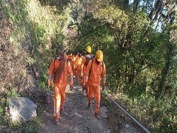 Seven NDRF teams been deployed for fire fighting mission at Dzuko valley.