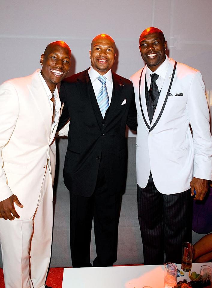 """Tyrese Gibson, Derek Fisher (L.A. Lakers), and Terrell Owens (Dallas Cowboys) were all smiles at the ESPY after party. Michael Caulfield/<a href=""""http://www.wireimage.com"""" target=""""new"""">WireImage.com</a> - July 16, 2008"""