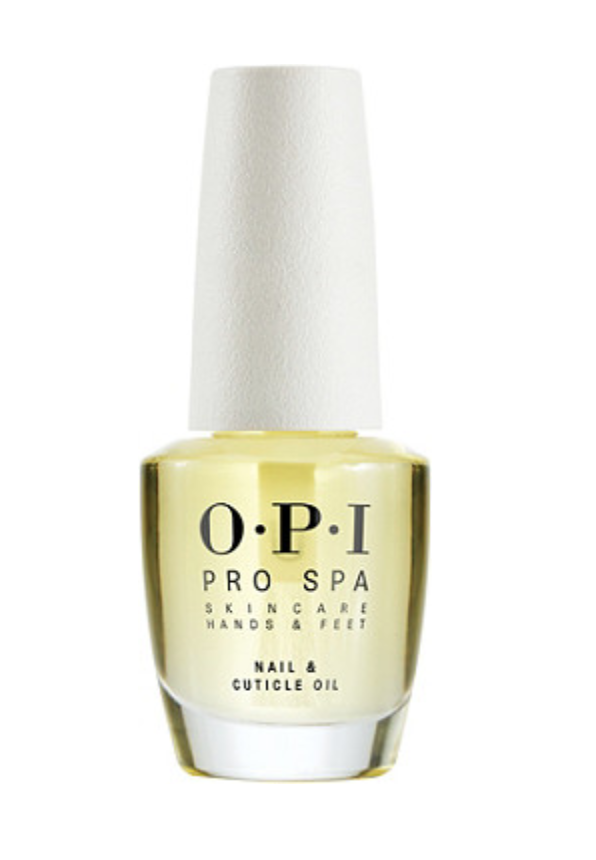 """<h2>OPI ProSpa Nail & Cuticle Oil</h2>A powerful cuticle-conditioning medley of grape seed, sesame, kukui, sunflower, and cupuaçu oils that's as lightweight and fast-absorbing as it is rich.<br><br><br><strong>OPI</strong> Pro Spa Nail & Cuticle Oil, $, available at <a href=""""https://go.skimresources.com/?id=30283X879131&url=https%3A%2F%2Fwww.ulta.com%2Fprospa-nail-cuticle-oil%3FproductId%3DxlsImpprod16521095"""" rel=""""nofollow noopener"""" target=""""_blank"""" data-ylk=""""slk:Ulta Beauty"""" class=""""link rapid-noclick-resp"""">Ulta Beauty</a>"""