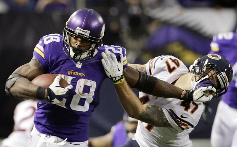 Adrian Peterson misses 2nd day of Vikings practice