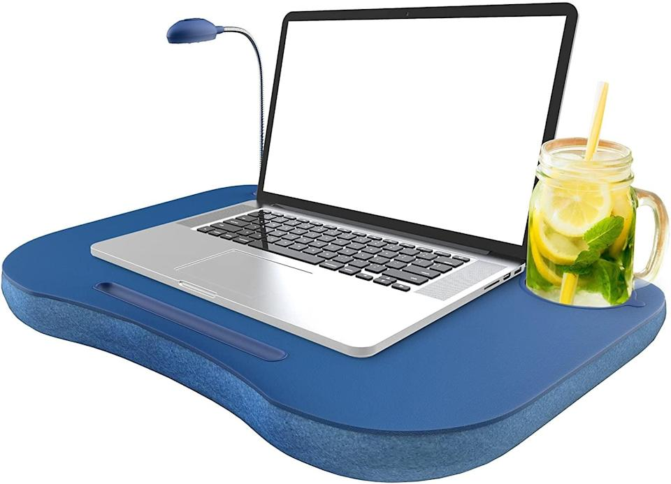 <p>This <span>Laptop Lap Desk</span> ($18) is ideal for someone who works at home.</p>