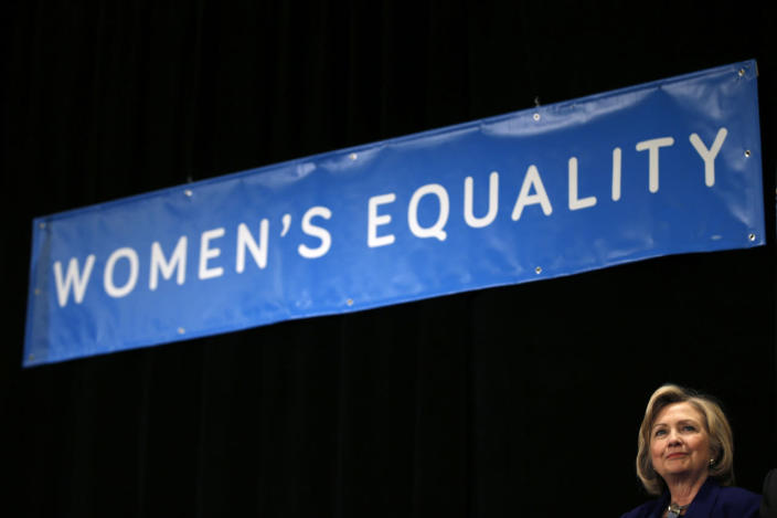 """<p>Former Secretary of State Hillary Clinton appears at a """"Women for Cuomo"""" campaign rally for New York Gov. Andrew Cuomo in New York City in October 2014. (Photo: Mike Segar/Reuters)</p>"""