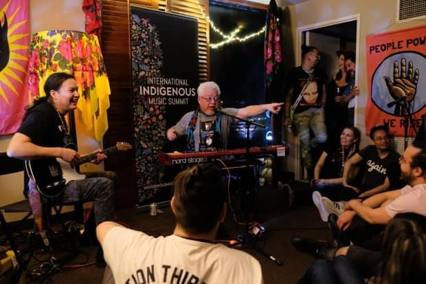 A performance at a previous International Indigenous Music Summit. This year, they've moved to an online model. (Supplied by International Indigenous Music Summit - image credit)