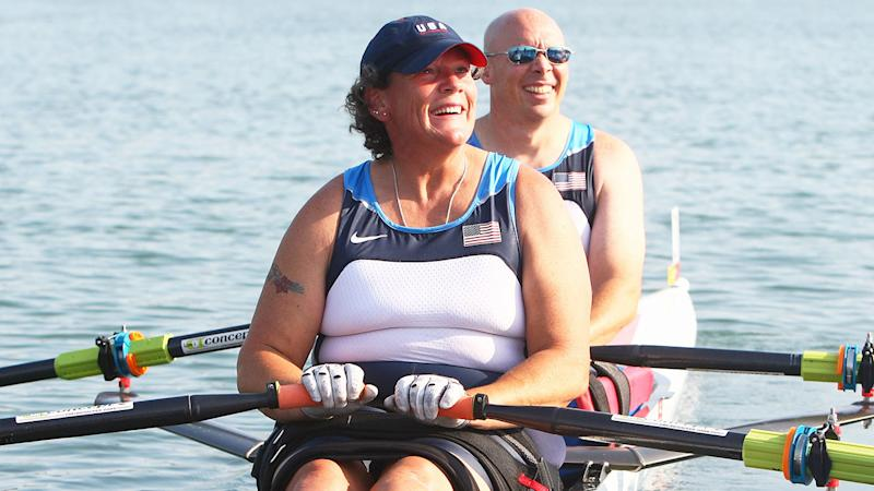 Pictured here, Angela Madsen was an avid rower.