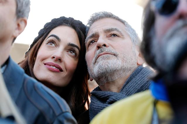 <p>Amal Clooney and George Clooney attend March For Our Lives on March 24, 2018 in Washington, DC. Paul Morigi/Getty Images for March For Our Lives) </p>