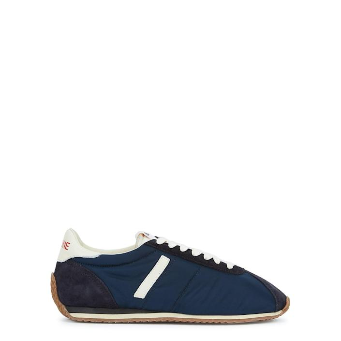 <p>These <span>Re/Done 70s Runner navy nylon sneakers</span> ($225, originally $370) are simple yet chic.</p>