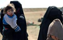In the past two months, more than 37,000 people, mostly wives and children of IS fighters, have fled into SDF-held areas