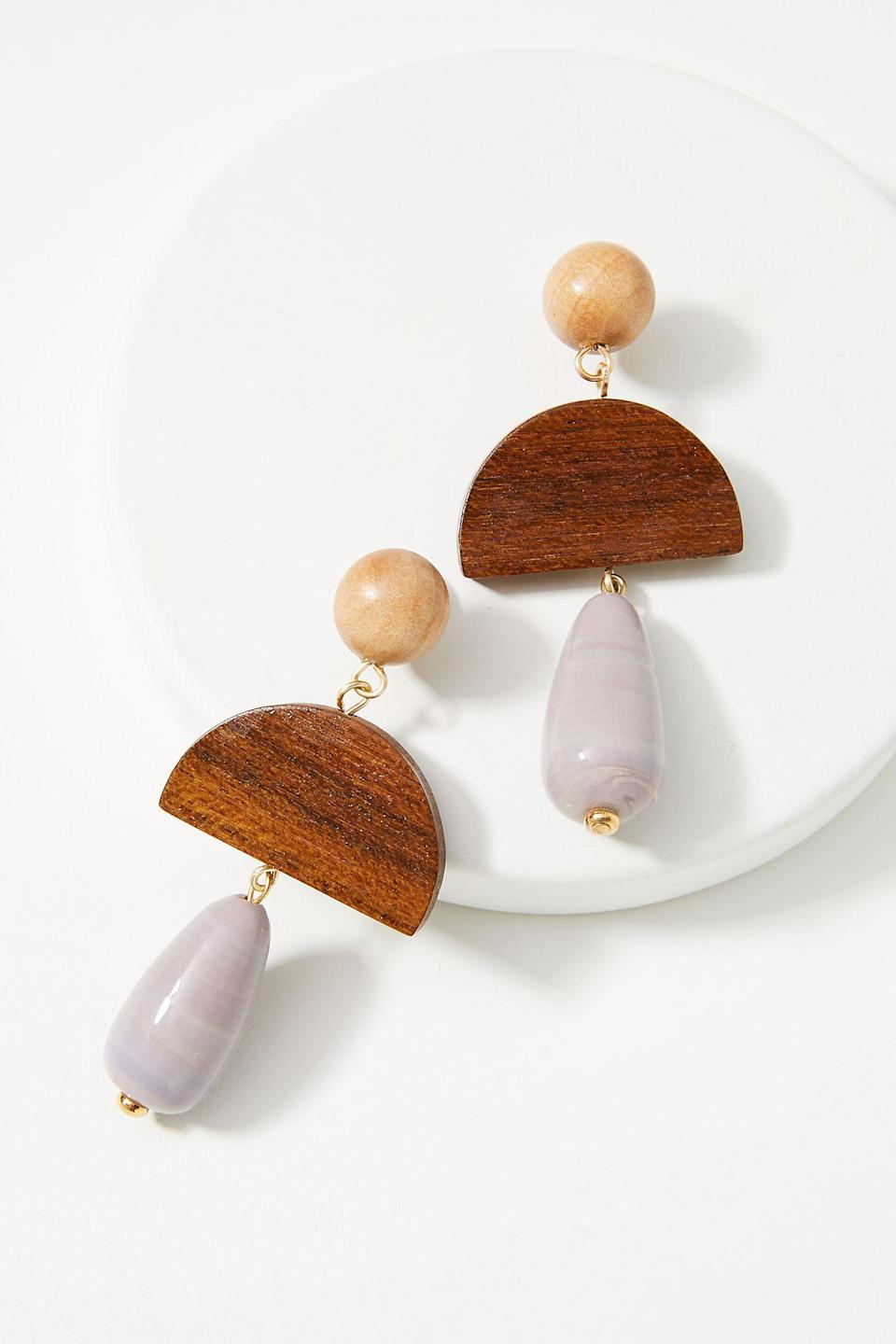 """<br><br><strong>Sophie Monet</strong> Rae Drop Earrings, $, available at <a href=""""https://go.skimresources.com/?id=30283X879131&url=https%3A%2F%2Fwww.anthropologie.com%2Fshop%2Fsophie-monet-rae-drop-earrings"""" rel=""""nofollow noopener"""" target=""""_blank"""" data-ylk=""""slk:Anthropologie"""" class=""""link rapid-noclick-resp"""">Anthropologie</a>"""