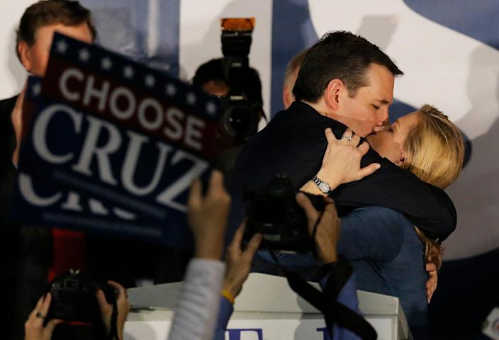 Ted and Heidi Cruz Iowa Caucus