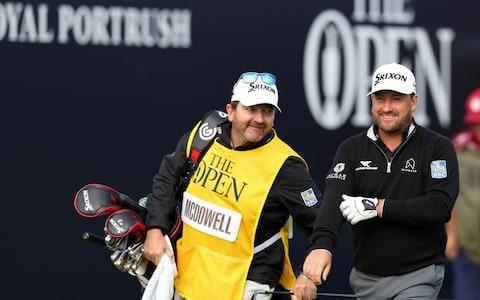 Graeme McDowell on the 18th - Credit: Getty Images