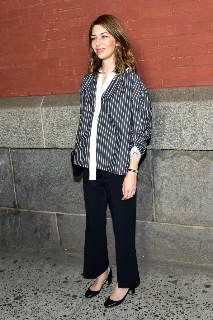 <p>Sofia Coppola stuck to the basics and demonstrated how to work monochrome hues at fashion week. <em>[Photo: Getty]</em> </p>