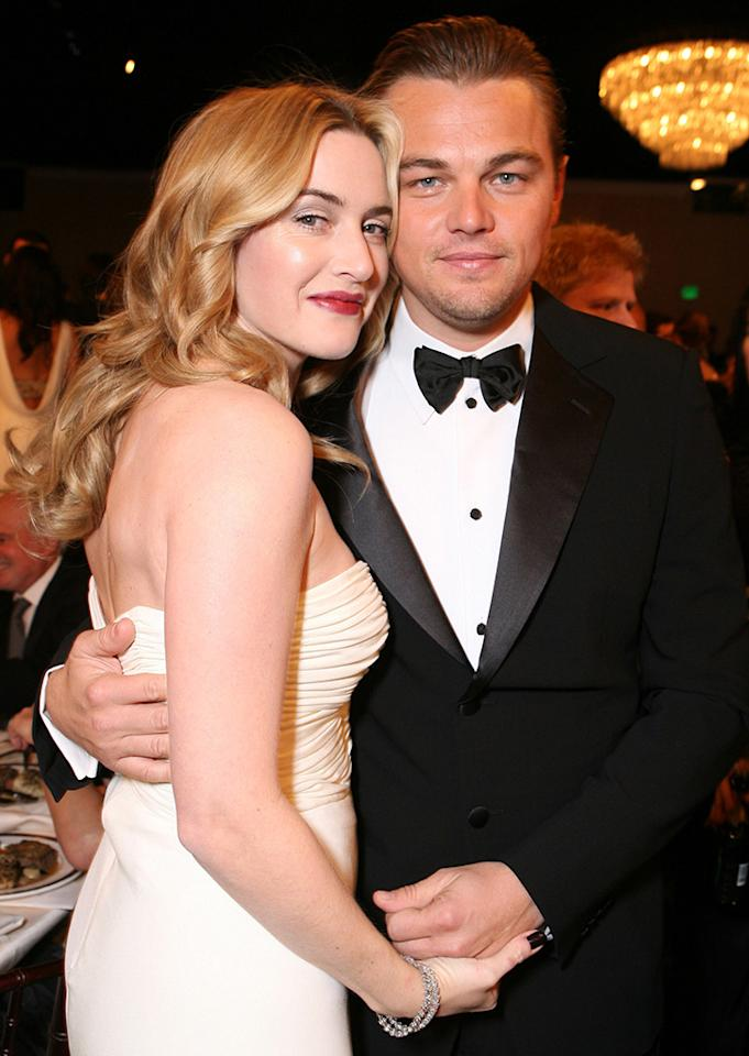 <p>Our favorite duo reunited at the 2007 Golden Globe awards. Winslet was nominated for her performance in <i>Little Children</i>, while Dicaprio received two noms for his roles in <i>The Departed</i> and <i>Blood Diamond</i>. (Photo: Alexandra Wyman/WireImage)</p>