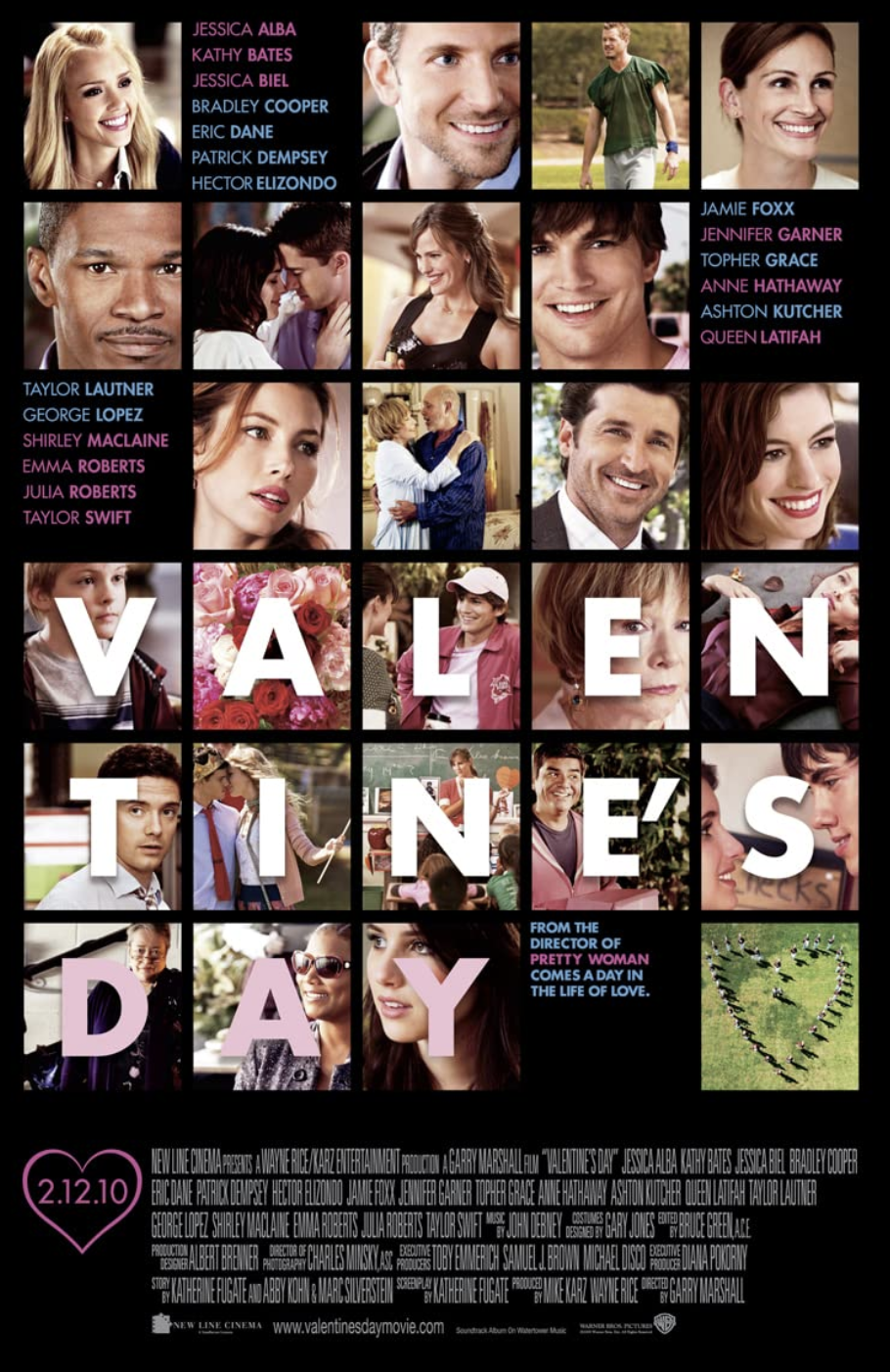 "<p>This star-studded film follows intertwining love stories taking place on Valentine's Day. Some of the notable cast members include Jennifer Garner, Jessica Alba, Patrick Dempsey, Anne Hathaway, Ashton Kutcher, and many, many more.</p><p><a class=""link rapid-noclick-resp"" href=""https://www.netflix.com/search?q=valen&jbv=70124804"" rel=""nofollow noopener"" target=""_blank"" data-ylk=""slk:STREAM NOW"">STREAM NOW</a></p>"