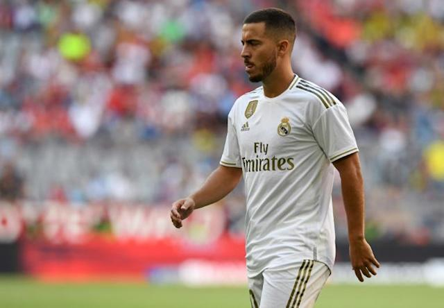 Real Madrid's Eden Hazard has been passed fit to make his La Liga debut against Levante on Saturday (AFP Photo/Christof STACHE)