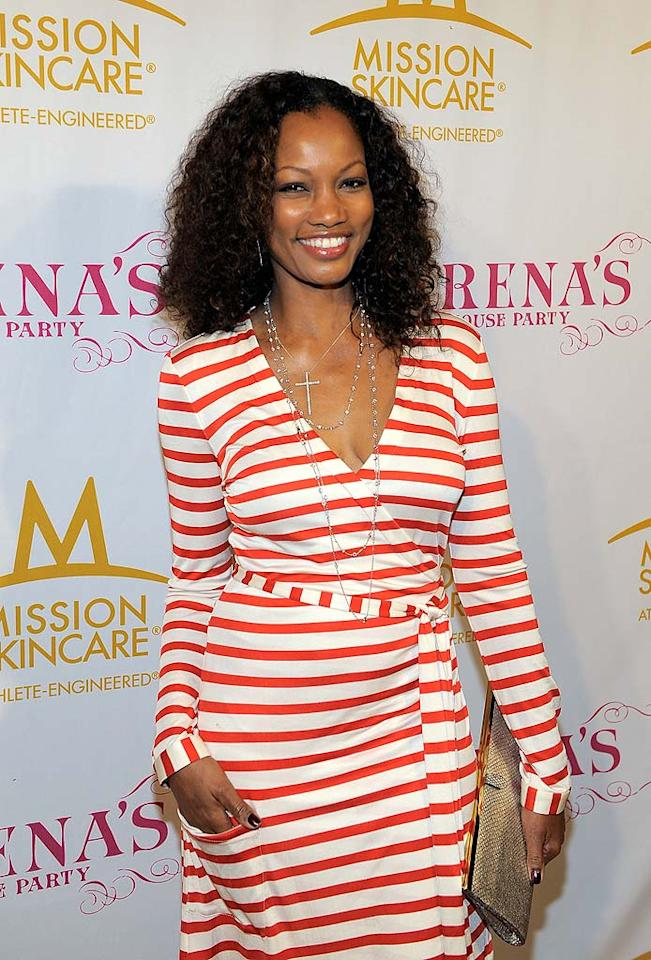 "Actress Garcelle Beauvais-Nilon modeled the stripes trend in her red-and-white wrap dress, which she accessorized with a metallic clutch and layers of long necklaces. Charley Gallay/<a href=""http://www.gettyimages.com/"" target=""new"">GettyImages.com</a> - July 12, 2010"