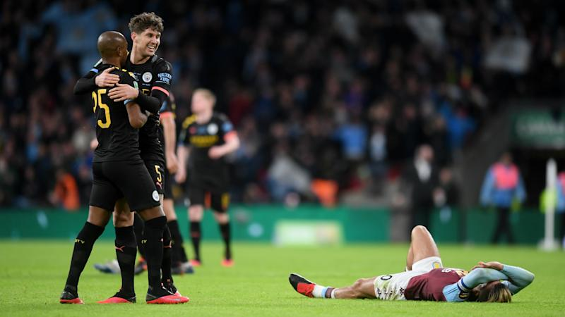 John Stones Aston Villa vs Manchester City Carabao Cup final 2019-20
