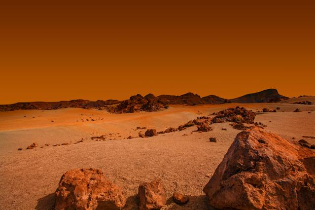 There could be more liquid than we thought on the Red Planet (Getty)