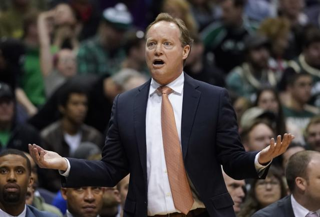 Mike Budenholzer and the Atlanta Hawks have parted ways. (AP Photo/Morry Gash)